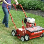 Using Classen TS-20H Turf Overseeder on lawn