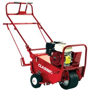 Classen Compact Aerator is self-propelled and easy to transport