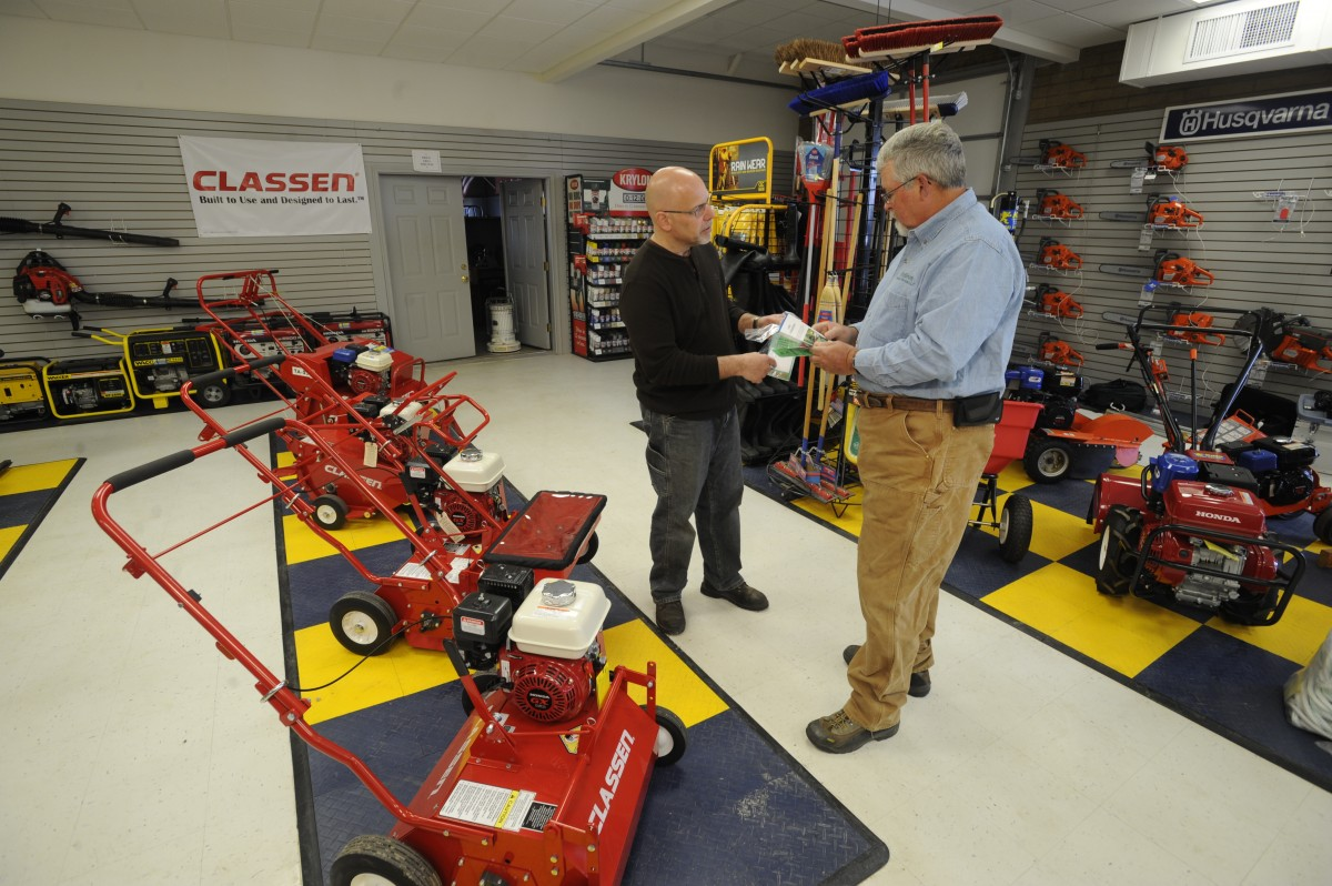 Find Classen turf care equipment at rental stores