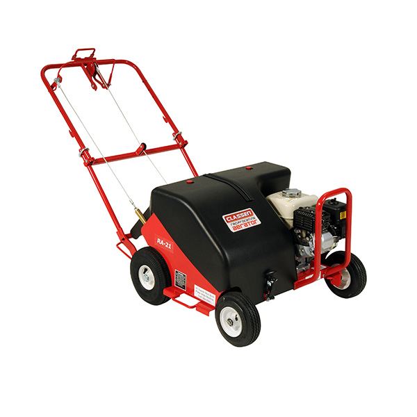 The Classen Reciprocating Aerator is designed to punch cleaner holes in tough soil without additional weights.