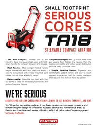 Compact Aerator Spec Sheet